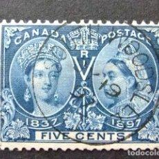 Sellos: CANADA 1897 60 ANNIVERSAIRE DU RÈGNE VICTORIA YVERT 42 FU DEFECT. Lote 142131986