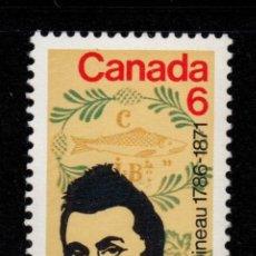 Sellos: CANADA 459** - AÑO 1971 - CENTENARIO DE LA MUERTE DE LOUIS JOSEPH PAPINEAU. Lote 143610354