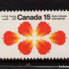 Sellos: CANADA 462** - AÑO 1971 - RADIO CANADA INTERNACIONAL. Lote 143610526