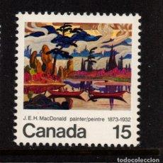 Sellos: CANADA 500** - AÑO 1973 - PINTURA - CENTENARIO DEL NACIMIENTO DEL PINTOR J.E.H. MACDONALD. Lote 143611358