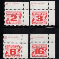 Sellos: CANADA TASA 34/37** - AÑO 1972 - CIFRAS. Lote 143611850