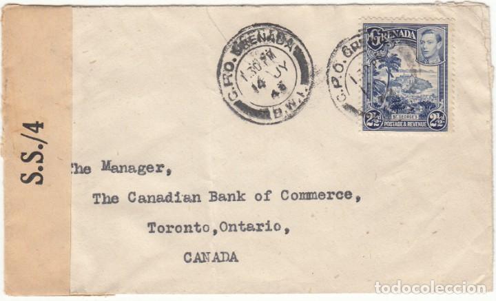 SOBRE 1943 TORONTO ( CANADA ) REMITENTE BARCLAIS BANK ( SELLO DE AGUA ) (Sellos - Extranjero - América - Canadá)