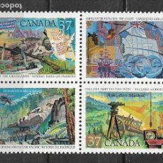Sellos: CANADA 1988 SC BLOCK OF 4, #1199-1202 2.40 - 116. Lote 146304438