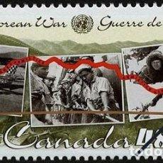 Sellos: [CF7640] CANADÁ 2003, GUERRA DE COREA (MNH). Lote 147670106