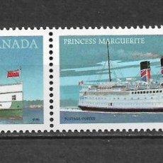 Sellos: CANADA 1987 BARCOS ** MNH - 7/28. Lote 147693510