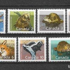 Sellos: CANADA 1988 FAUNA ** MNH - 7/28. Lote 147693718