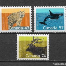 Sellos: CANADA 1988 FAUNA ** MNH - 7/28. Lote 147693798