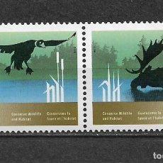 Sellos: CANADA 1988 FAUNA ** MNH - 7/28. Lote 147693954