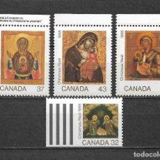 Sellos: CANADA 1988 NAVIDAD ** MNH - 7/28. Lote 147694206