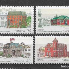 Sellos: CANADA 1987 ARQUITECTURA ** MNH - 7/28. Lote 147694286