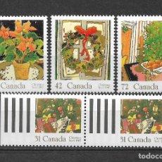 Sellos: CANADA 1987 NAVIDAD ** MNH - 7/28. Lote 147694354