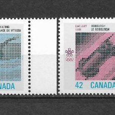 Sellos: CANADA 1988 JUEGOS OLIMPICOS CALGARY ** MNH - 7/28. Lote 147694454