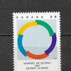 Sellos: CANADA 1987 SUMMIT, QUEBEC ** MNH - 7/28. Lote 147694602