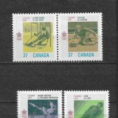 Sellos: CANADA 1988 JUEGOS OLIMPICOS CALGARY ** MNH - 7/28. Lote 147694766