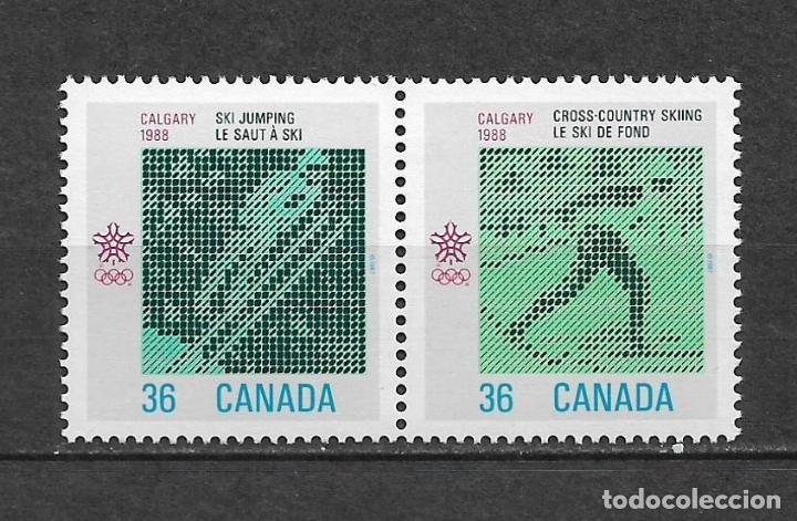 CANADA 1988 JUEGOS OLIMPICOS CALGARY ** MNH - 7/28 (Sellos - Extranjero - América - Canadá)