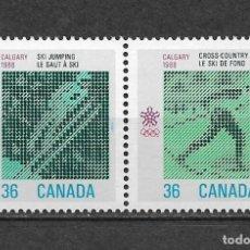 Sellos: CANADA 1988 JUEGOS OLIMPICOS CALGARY ** MNH - 7/28. Lote 147694826