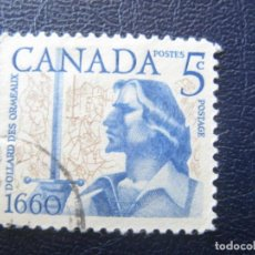 Sellos: CANADA, 1960, 300 ANIV. BATALLA DE LONG SAULT, YVERT 317. Lote 148772214