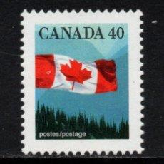 Sellos: CANADA 1168** - AÑO 1990 - BANDERA. Lote 148926258