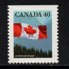 Sellos: CANADA 1168A** - AÑO 1990 - BANDERA. Lote 148926294