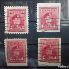 Sellos: CANADÁ 1939, JORGE VI, DIFERENTES DENTADO. YT 209. Lote 149820266