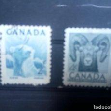Sellos: CANADÁ 1953, PRESERVACIÓN DE LA FAUNA,. YT 257,259. Lote 149947854