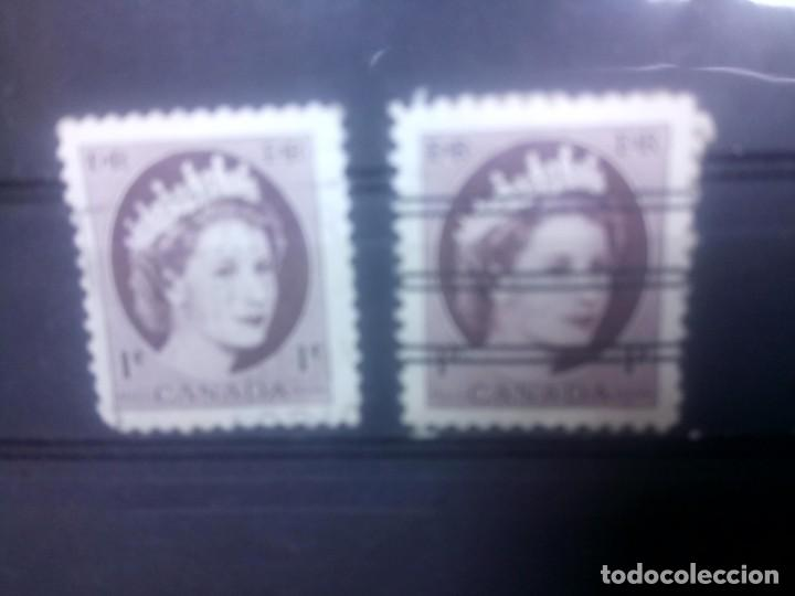 CANADÁ,1954, ISABEL II, BARRADO Y SIN BARRAR (Sellos - Extranjero - América - Canadá)