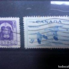 Sellos: CANADÁ 1955 PRESERVACIÓN DE LA FAUNA. YT 279/280. Lote 149950954
