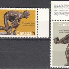 Sellos: CANADA - 1 SERIE DE SELLOS IVERT 559-560(2 VALORES)JUEGOS OLIMPICOS DE MONTREAL 1976 - GOMA ORIGINAL. Lote 150515818