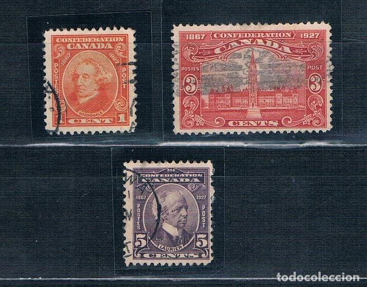 SELLOS USADOS CANADA 1927 YVES 121 123 124 (Sellos - Extranjero - América - Canadá)
