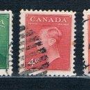 Sellos: SELLOS USADOS CANADA 1949/1951 YVES 236/239/239A. Lote 150702066