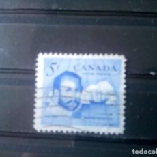 Sellos: CANADÁ 1963, EXPLORADOR SIR MARTÍN FROSHIBISER, YT 335. Lote 150782194