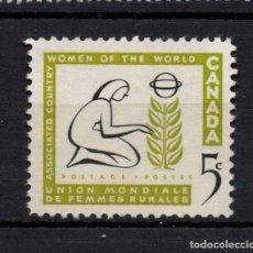 Sellos: CANADA 312** - AÑO 1959 - UNION MUNDIAL DE MUJERES AGRICULTORAS. Lote 151406394