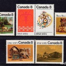 Sellos: CANADA 481/84B** - AÑO 1972 - INDIOS CANADIENSES. Lote 151407546