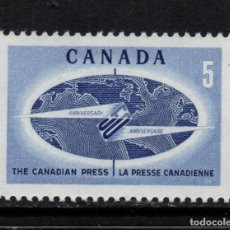 Sellos: CANADA 394** - AÑO 1967 - 50º ANIVERSARIO DE LA AGENCIA LA PRENSA CANADIENSE. Lote 151408030