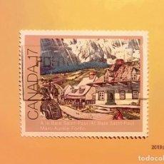 Sellos: CANADA - PINTURA - MARC AURELE FORTIN - A LA BAILE SAINT-PAUL.. Lote 151483522