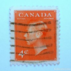 Sellos: SELLO POSTAL CANADA 1951, 4 CENTS , REY GEORGE VI, FOTOGRAFÍA DE DOROTHY W, USADO. Lote 152860702