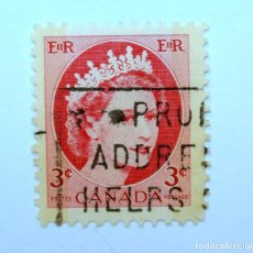 Sellos: SELLO POSTAL CANADA 1962, 3 CENT , REINA ELIZABETH II, USADO. Lote 152865170