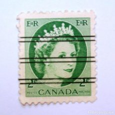 Sellos: ANTIGUO SELLO POSTAL CANADA 1954, 2 CENT , REINA ELIZABETH II, OVERPRINT PRECANCELADO, SIN USAR. Lote 152866710