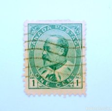 Sellos: SELLO POSTAL CANADA 1903, 1 CENTS , REY EDWARD VII, USADO. Lote 152963186