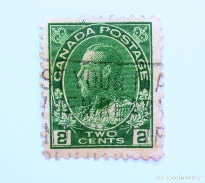 SELLO POSTAL CANADA 1922, 2 CENT, REY GEORGE V , USADO (Sellos - Extranjero - América - Canadá)