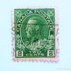 Sellos: SELLO POSTAL CANADA 1922, 2 CENT, REY GEORGE V , USADO. Lote 152965974