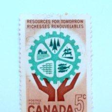 Sellos: SELLO POSTAL CANADA 1961, 5 CENT, RECURSOS PARA EL MAÑANA, CONMEMORATIVO, USADO. Lote 152980078