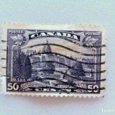 Sellos: SELLO POSTAL CANADA 1935, 50 CENT, EDIFICIOS DEL PARLAMENTO, VICTORIA B.C., USADO. Lote 152980634