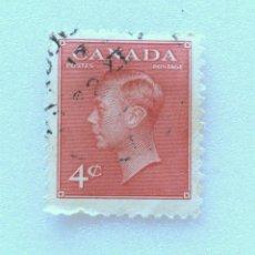 Sellos: SELLO POSTAL CANADA 1950, 4 CENTS , REY GEORGE VI, FOTOGRAFÍA DOROTHY WILDING USADO. Lote 152987942