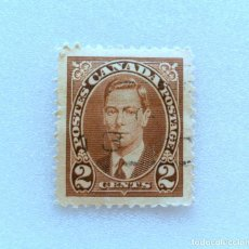 Sellos: SELLO POSTAL CANADA 1937, 2 CENTS ,REY GEORGE VI, USADO. Lote 153029462
