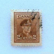 Sellos: SELLO POSTAL CANADA 1942, 2 CENTS , REY GEORGE VI , USADO. Lote 153044506