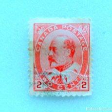 Sellos: SELLO POSTAL CANADA 1903, 2 CENTS , REY EDWARD VII , USADO. Lote 153080318