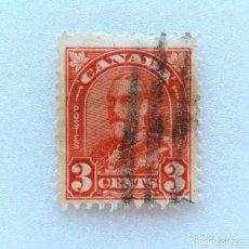 Sellos: SELLO POSTAL CANADA 1931, 3 CENTS , REY GEORGE V, USADO. Lote 153089254