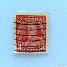 Sellos: SELLO POSTAL CANADA 1935, 3 CENTS , REY GEORGE V, USADO. Lote 153090206
