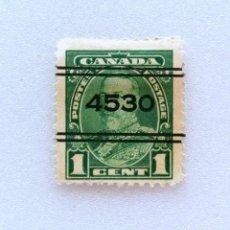 Sellos: SELLO POSTAL CANADA 1935, 1 CENTS , REY GEORGE V, PRECANCELADO, SIN USAR. Lote 153091002